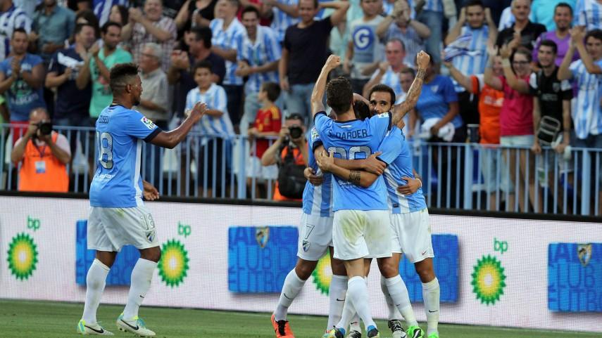 Tres puntos de oro para el Málaga