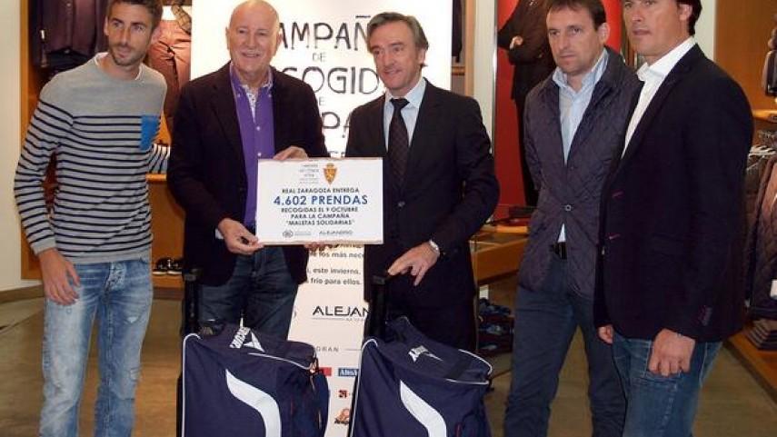 El Zaragoza se une a la campaña 'Maletas Solidarias'
