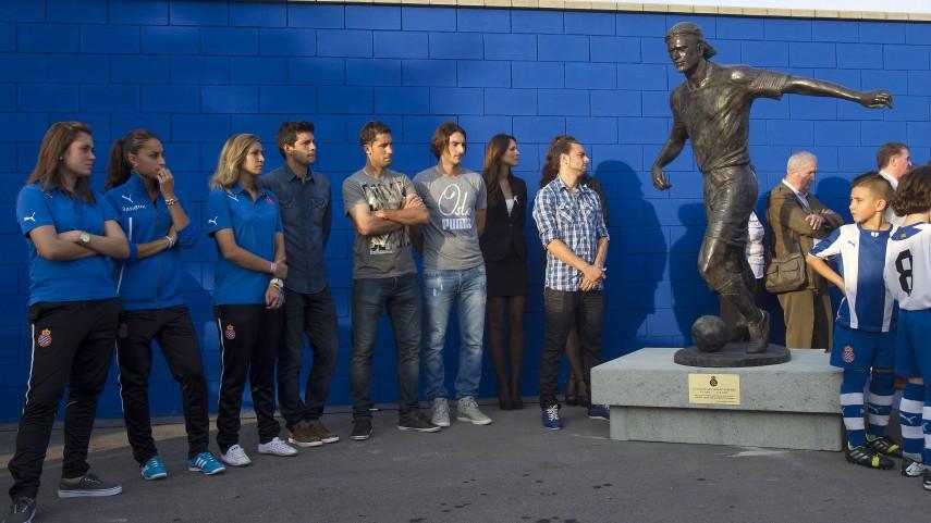 Dani Jarque ya preside la ciudad deportiva del Espanyol
