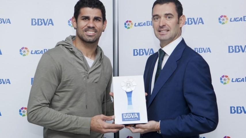Diego Costa, mejor jugador de la Liga BBVA de septiembre