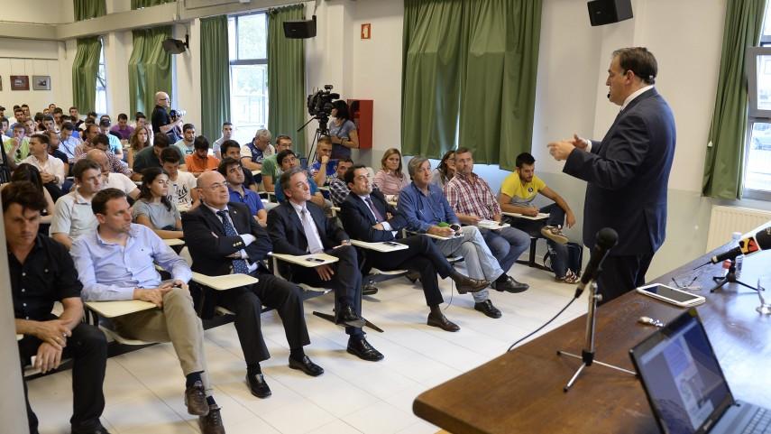 Javier Tebas, en la 'Jornada de Ligas Profesionales'