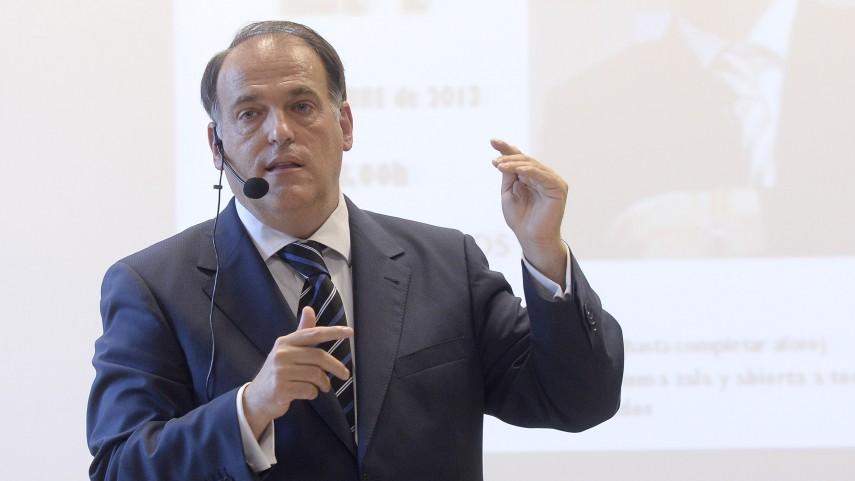 Javier Tebas impartió una conferencia en Zaragoza