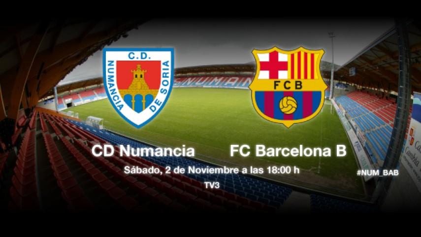 El Barça B, contra la regularidad del Numancia