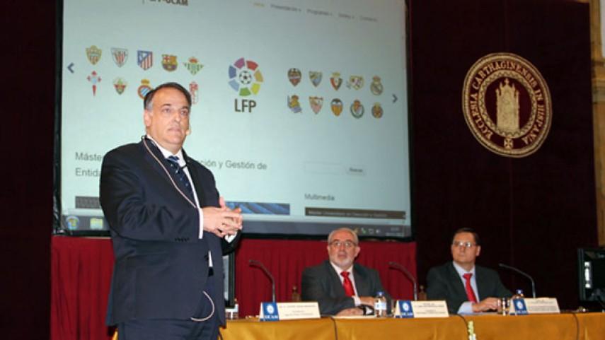 Javier Tebas explicó el trabajo de la LFP para reducir la deuda de los clubes