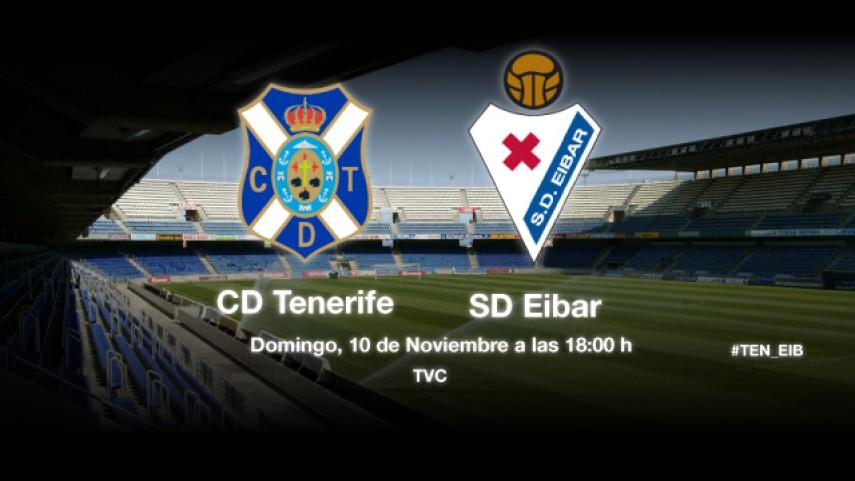 El Tenerife pone a prueba la racha del Eibar