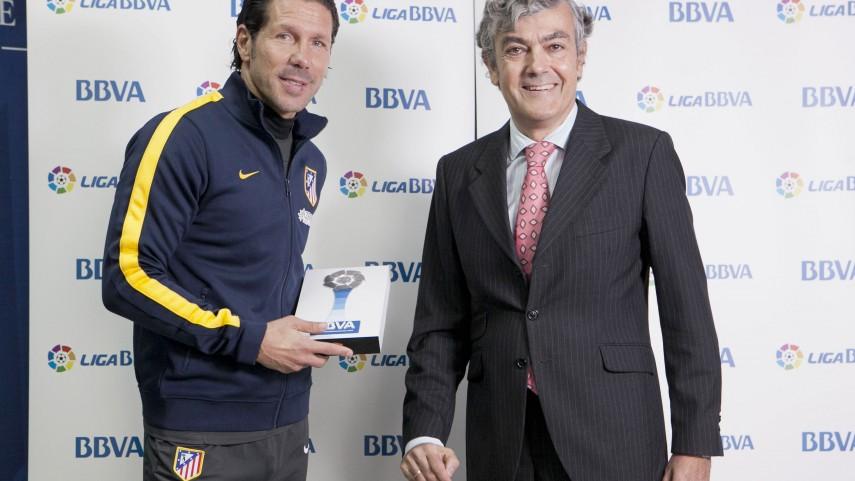 Simeone, mejor entrenador de la Liga BBVA de octubre