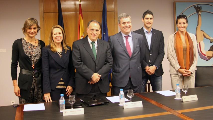 La LFP y el CSD firman el convenio de colaboración con deportistas de alto nivel