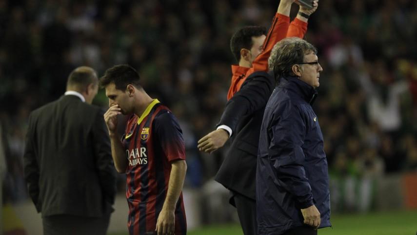 Messi, baja en el Barcelona