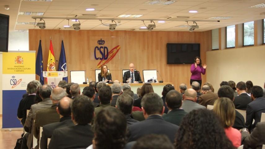 Reunión de las federaciones deportivas españolas en el CSD