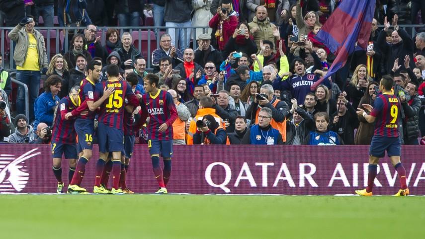 Recital de goles en el Camp Nou