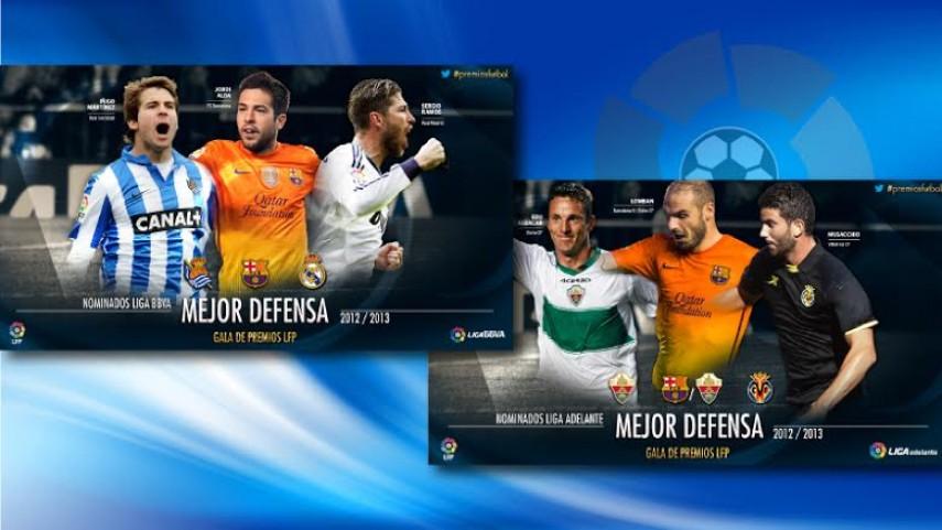 Los mejores defensas, en los Premios LFP
