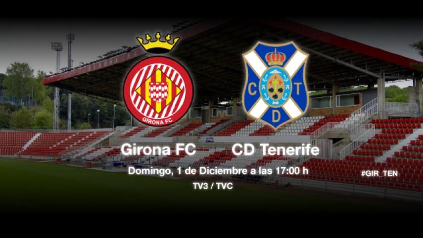 El Girona pondrá a prueba la racha del Tenerife
