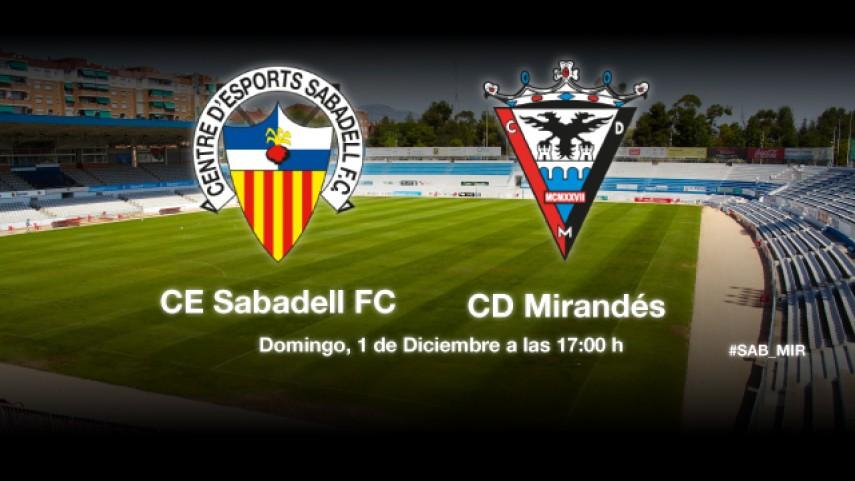 El Mirandés examina al nuevo Sabadell