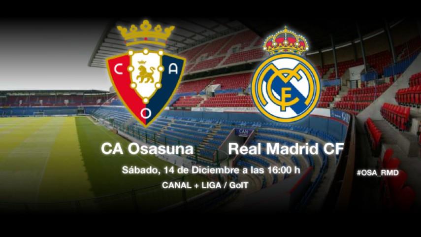 Osasuna pone a prueba al Real Madrid