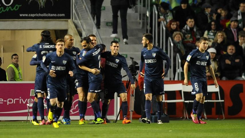 Primer triunfo a domicilio para el Málaga