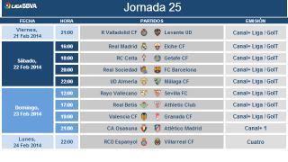 Liga BBVA schedule modification