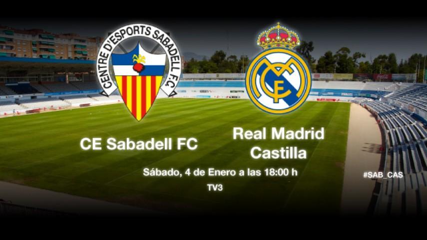 El Sabadell pone a prueba la racha del Castilla
