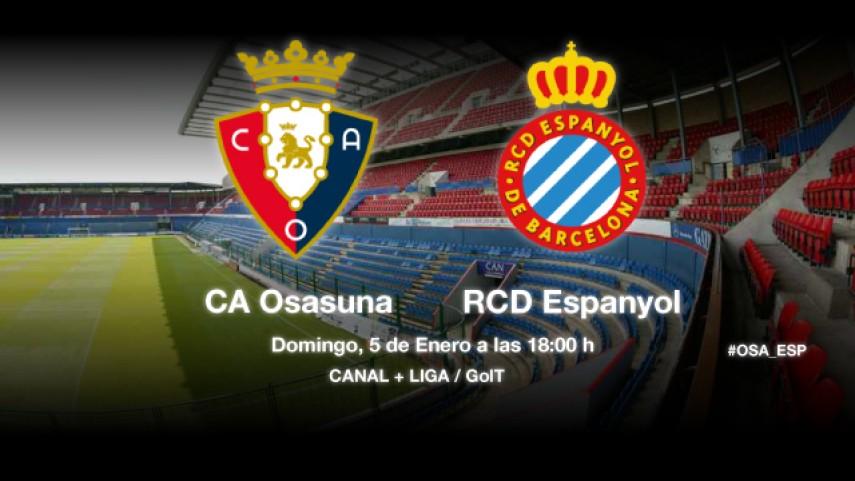 Osasuna quiere recuperar sensaciones ante el Espanyol