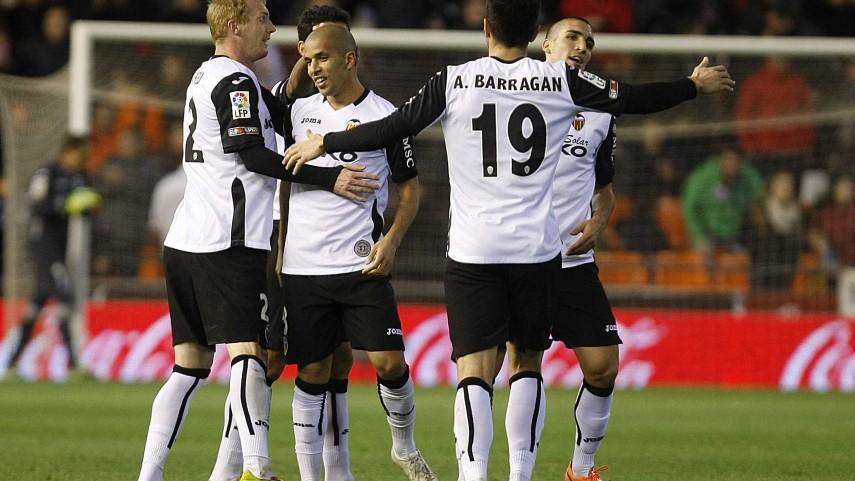 Atlético, Valencia y Almería, triunfadores del sábado