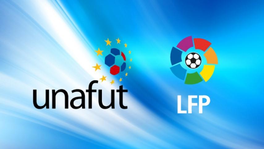 La LFP y la UNAFUT renuevan su acuerdo de colaboración