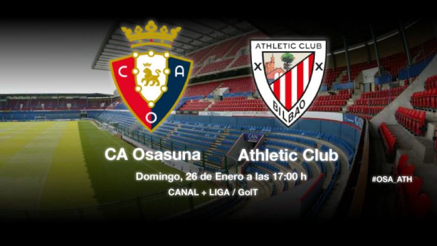Osasuna defiende racha ante el Athletic
