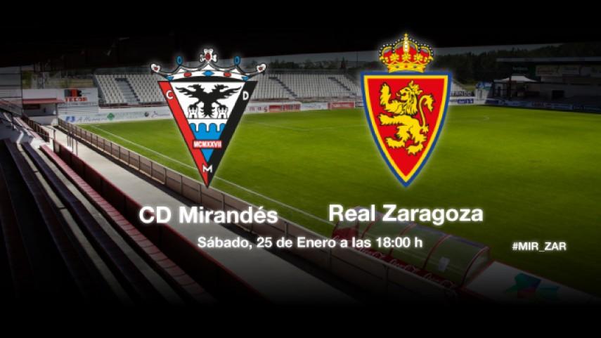El Mirandés pone a prueba la racha del Zaragoza