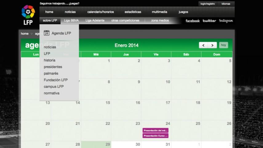 Nuevo calendario de eventos de la LFP