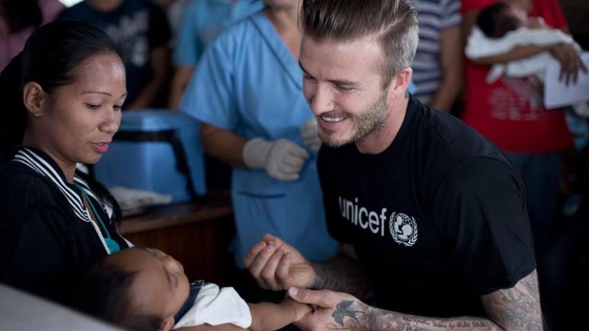 Beckham se une a la causa de UNICEF en Filipinas