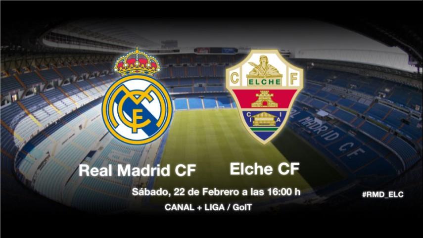 El Real Madrid medirá sus fuerzas ante el Elche