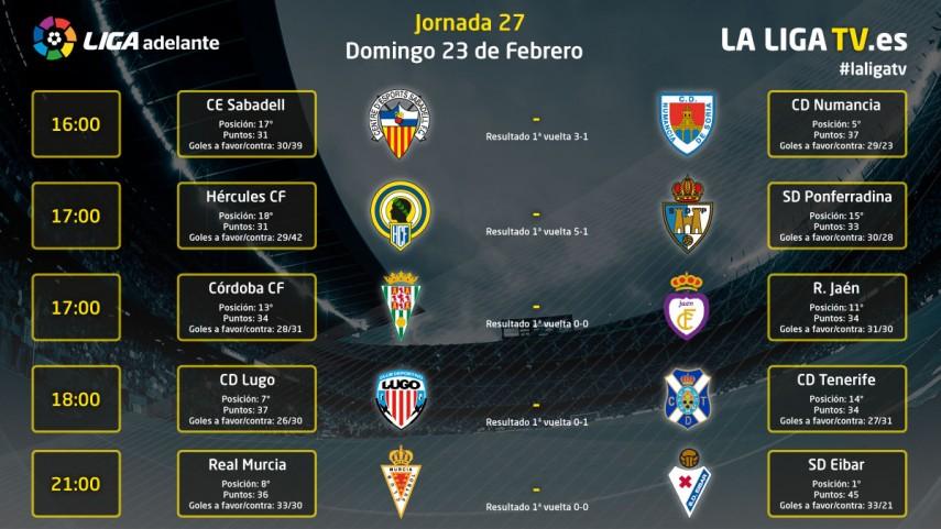 Los mejores partidos del domingo en la Liga TV