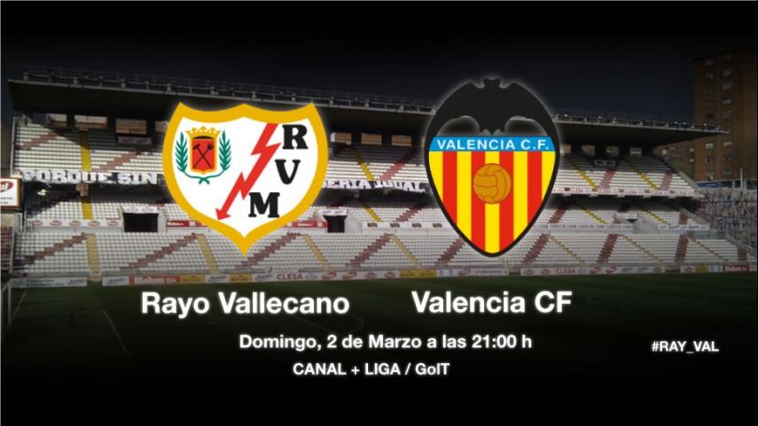El Rayo quiere frenar al Valencia