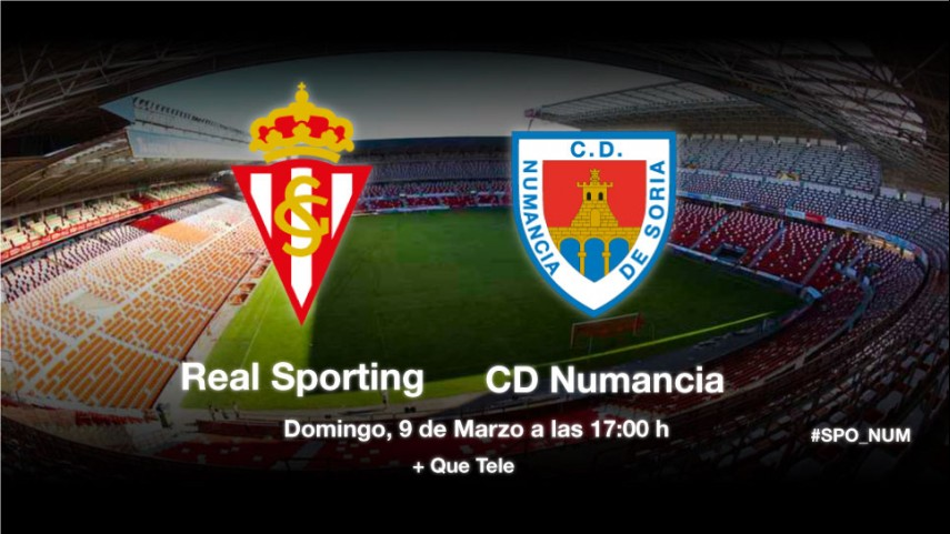 El Sporting, ante la muralla del Numancia