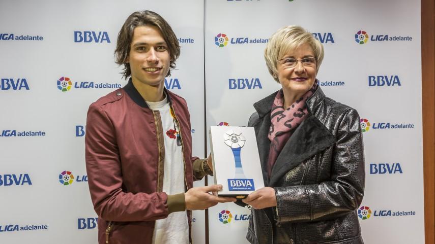 Jota Peleteiro, mejor jugador de la Liga Adelante de febrero