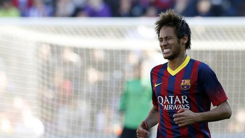 Neymar y Jordi Alba, lesionados