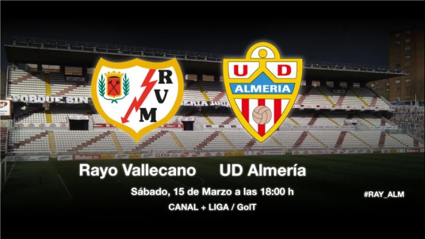 El Almería pone a prueba la racha del Rayo