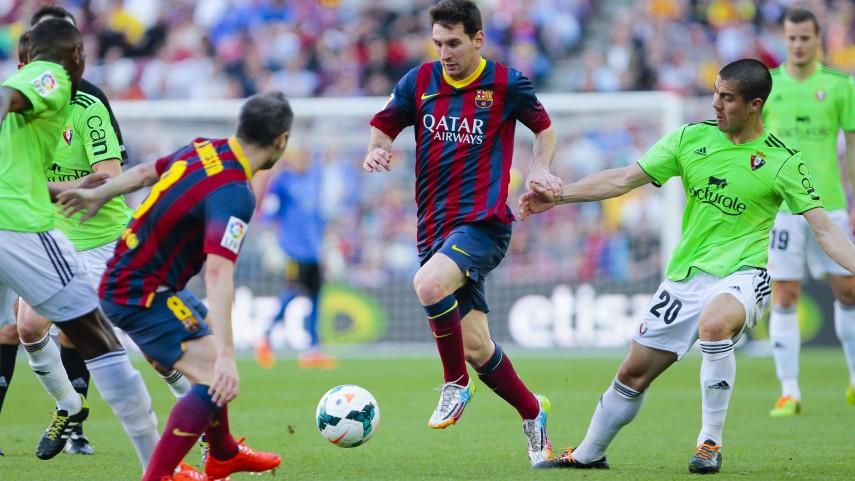Barça get even against Osasuna