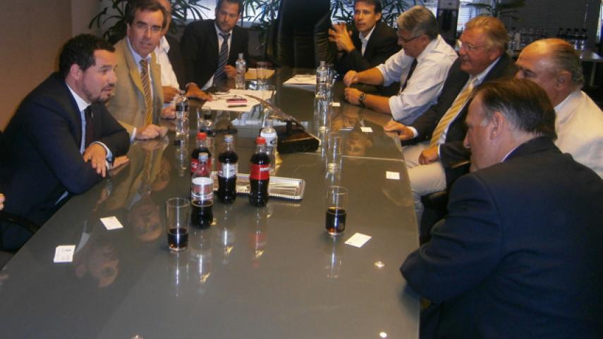 La LFP visitó la Asociación Uruguaya de Fútbol