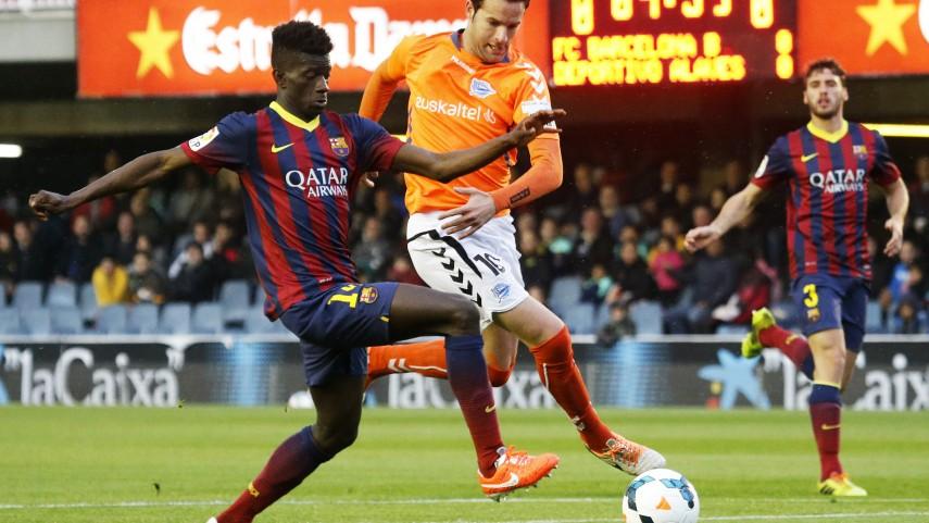 Sandro y Denis Súarez impulsan al Barcelona B