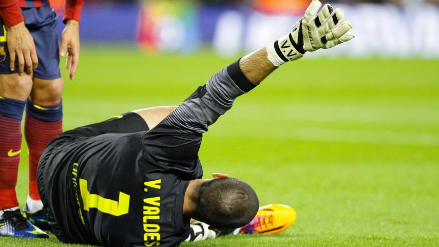 Grave lesión de Víctor Valdés