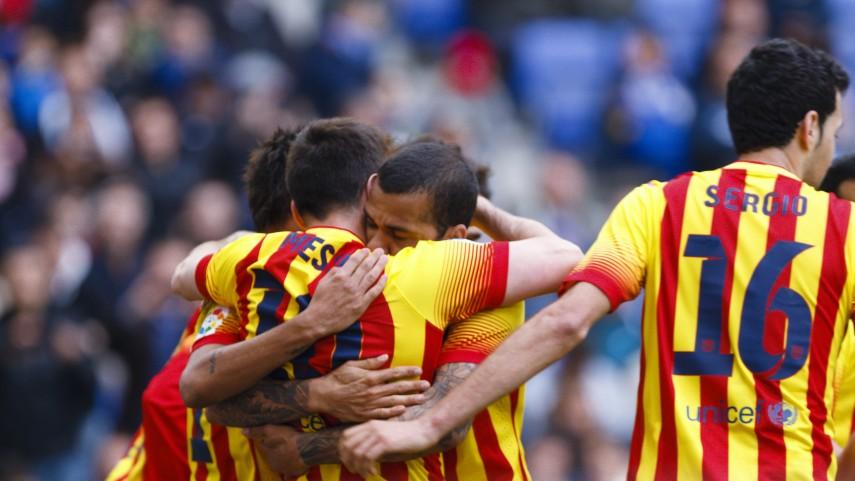 El Barcelona se lleva el derbi catalán