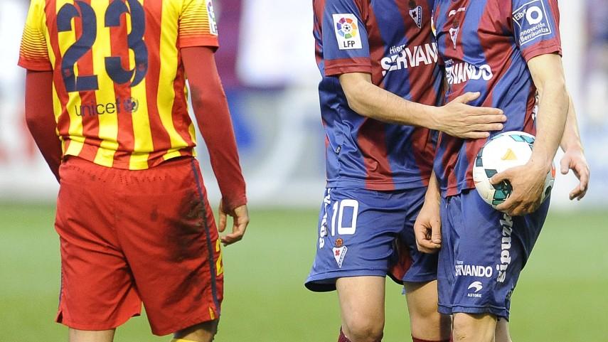 El Eibar cede ante el Barcelona B