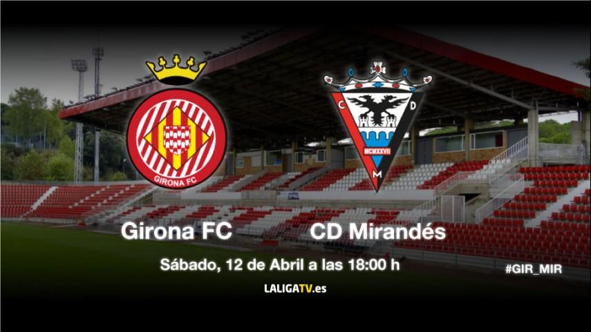 El Girona mide la eficacia del Mirandés