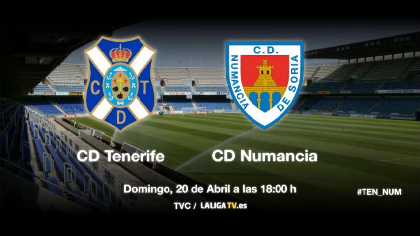 El Tenerife lucha por afianzarse ante el Numancia