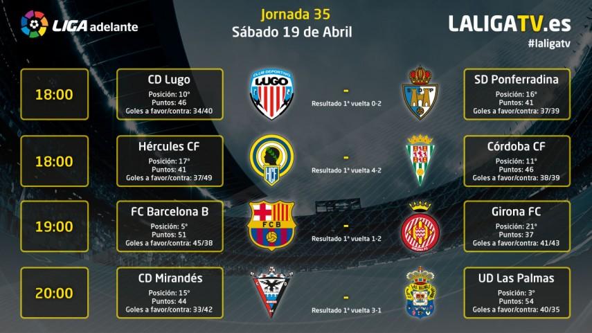 Emocionante jornada del sábado en la Liga TV