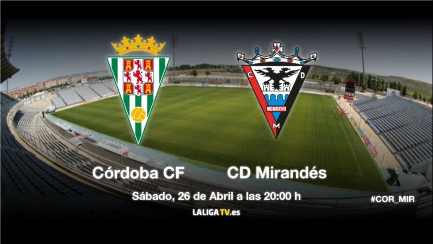 El Mirandés mide la mejoría del Córdoba
