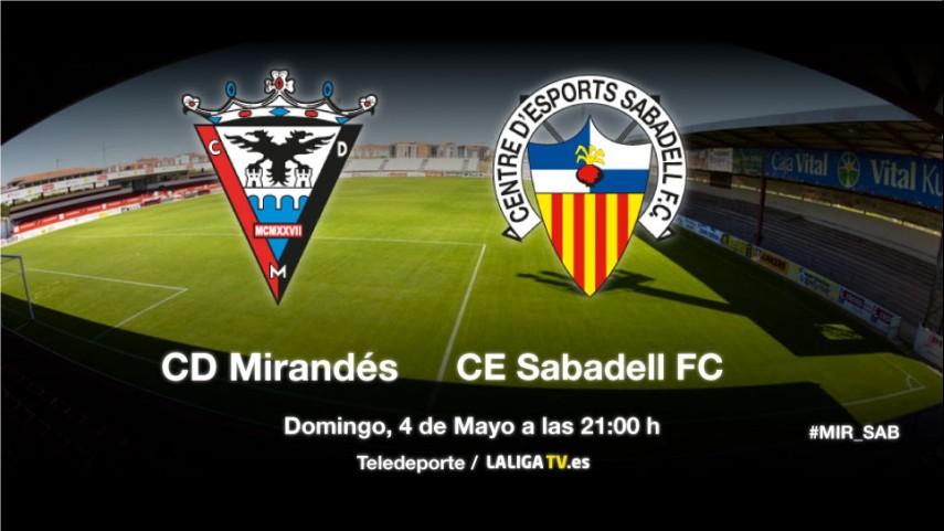 Mirandés y Sabadell buscan el play-off