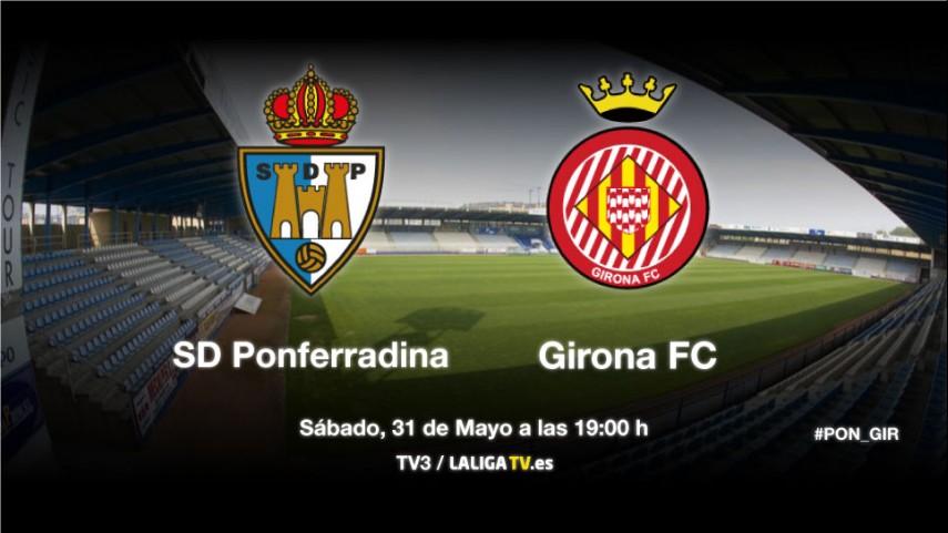 El Girona se juega la temporada en un partido