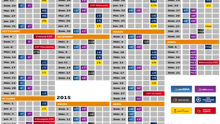 Futbol Calendario.This Is How The 2014 15 Season Will Look News Liga De Futbol