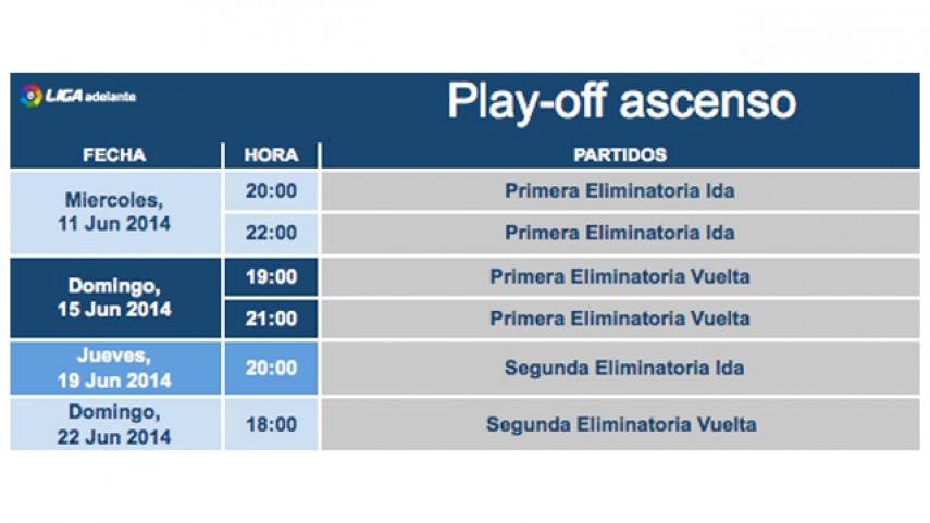 Horarios del play-off de la Liga Adelante