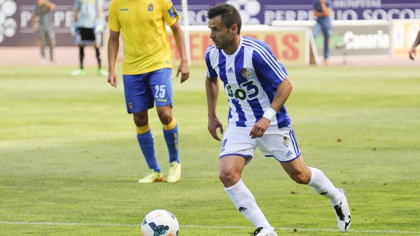 Jonathan Ruiz, jugador de la Ponferradina dos temporadas más